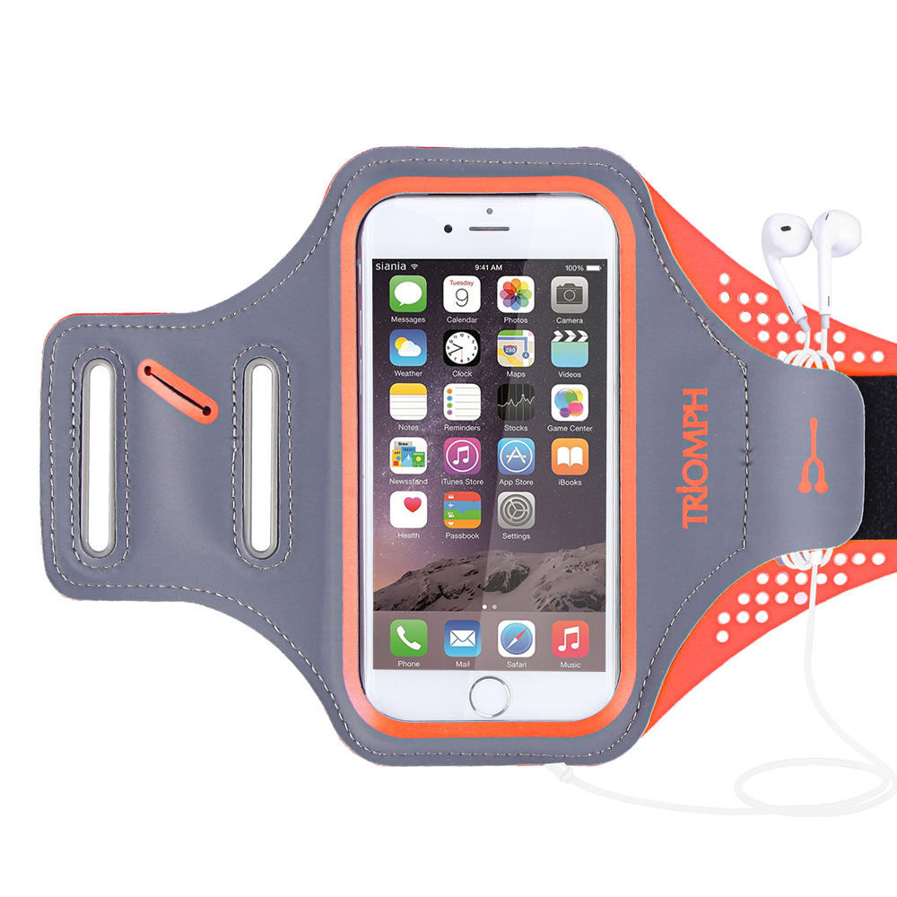 TRAB16 Orange Waterproof Phone Armband