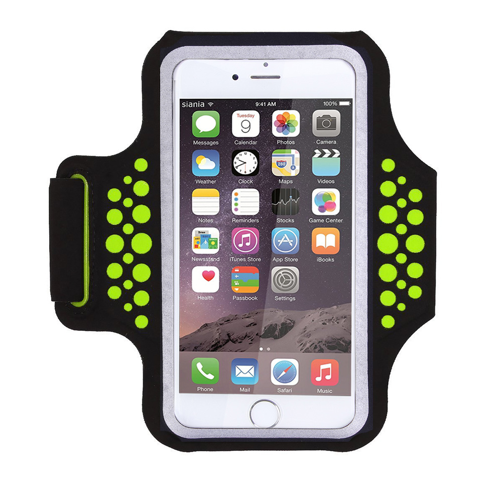 TRAB17   Green  Waterproof Phone Armband