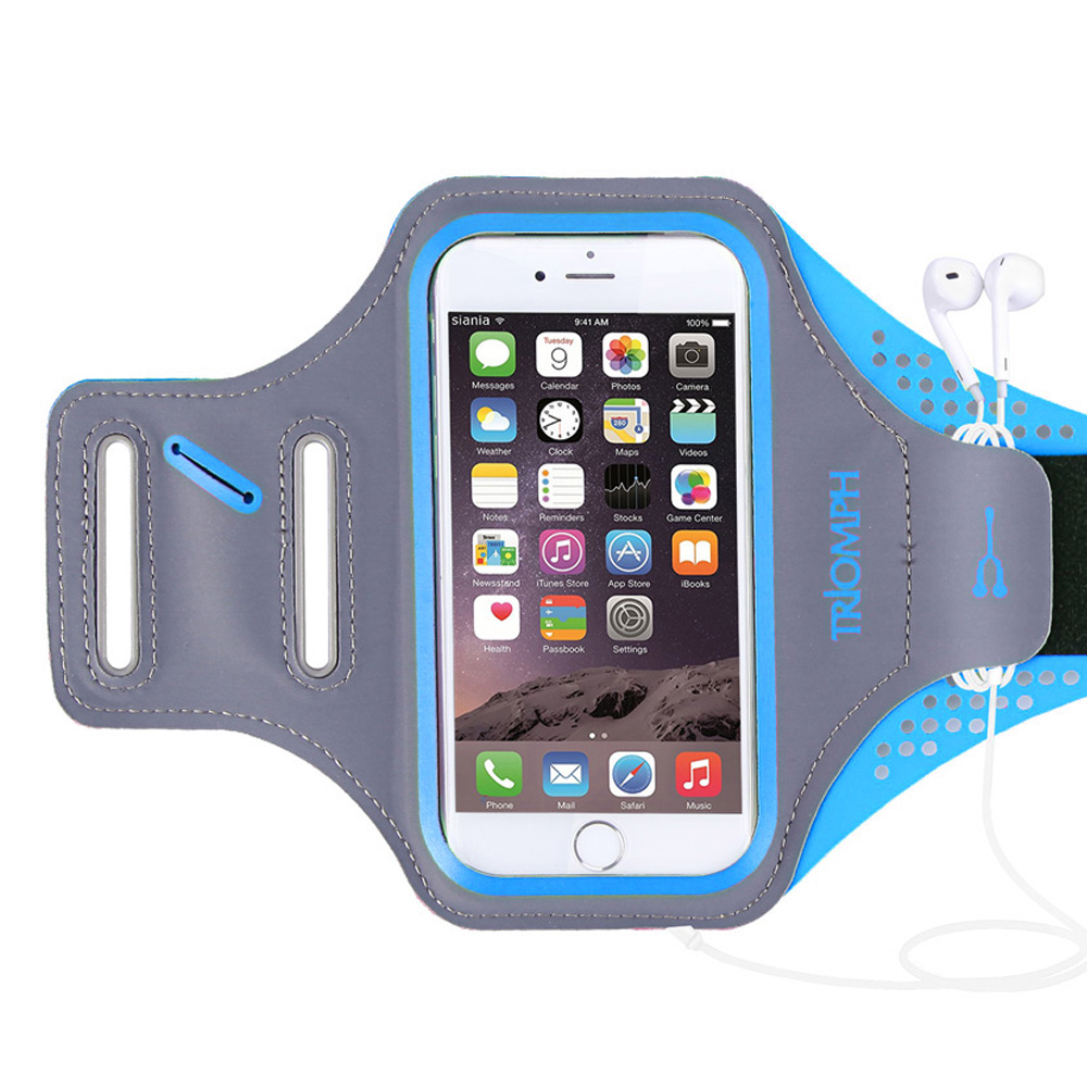 TRAB16 Blue  Waterproof Phone Armband