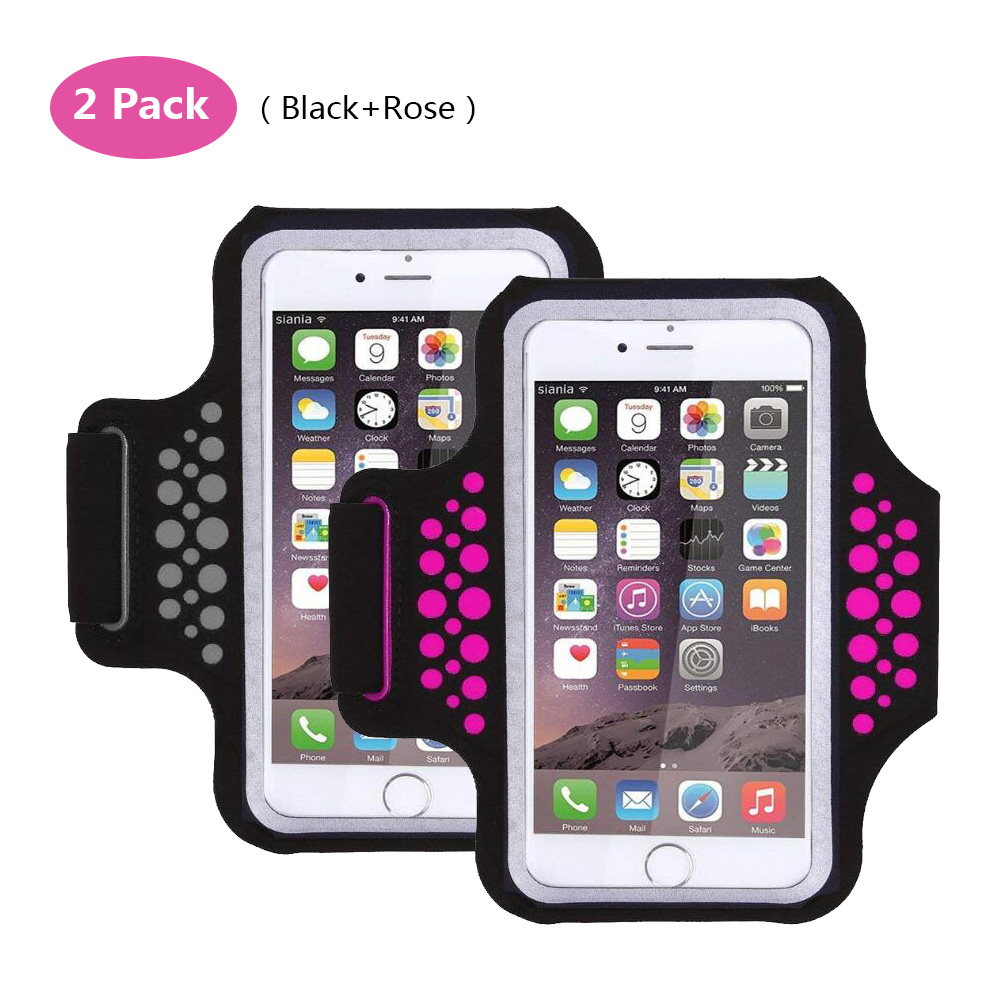 TRAB17 BlackRose Waterproof Phone Armband