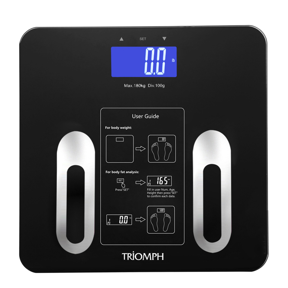 EMSC91 Triomph Digital Body Fat Scale Black
