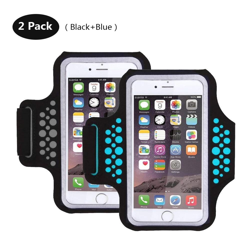 TRAB17 BlackBlue  Waterproof Phone Armband
