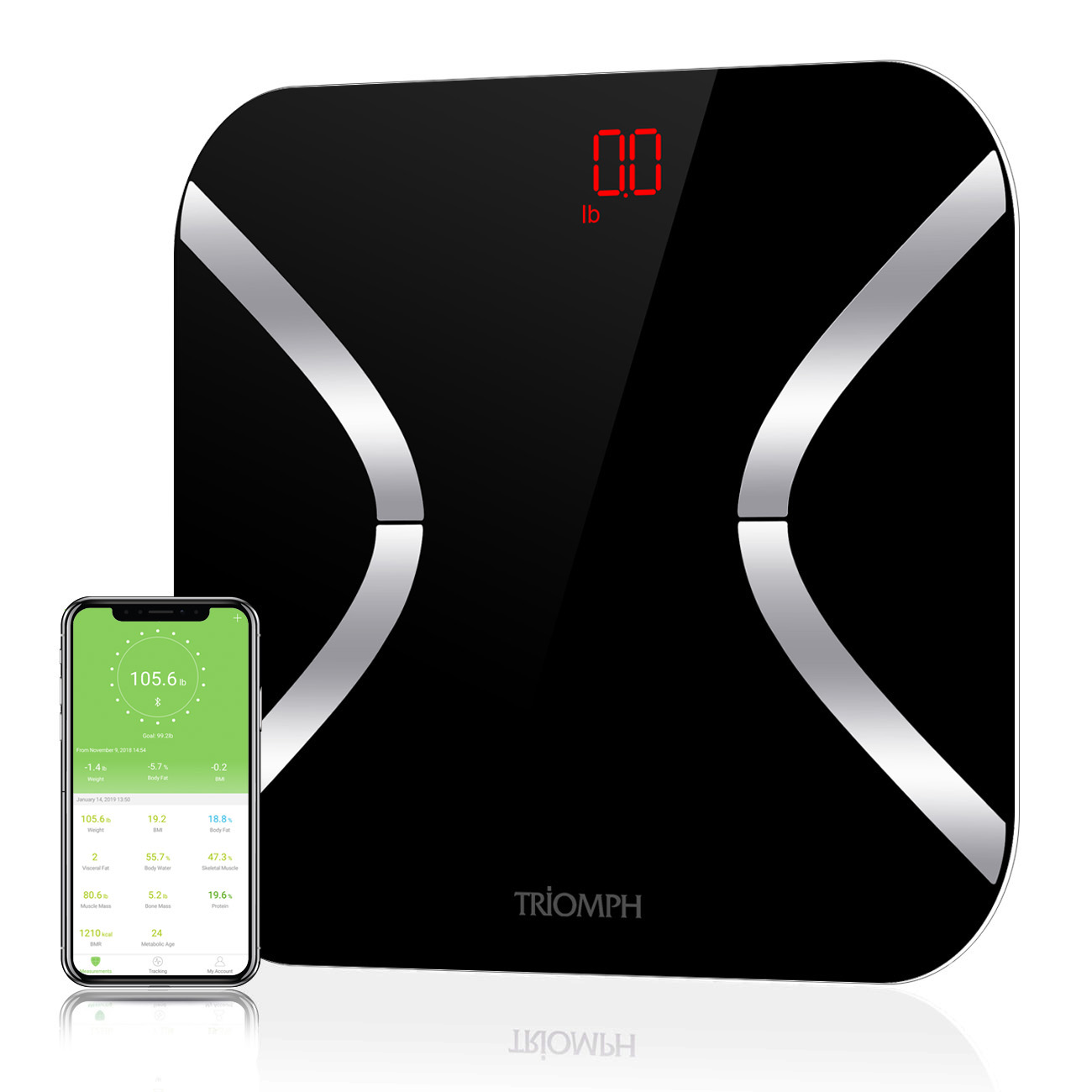 TRSC34 Triomph Body Weight Bathroom Scale