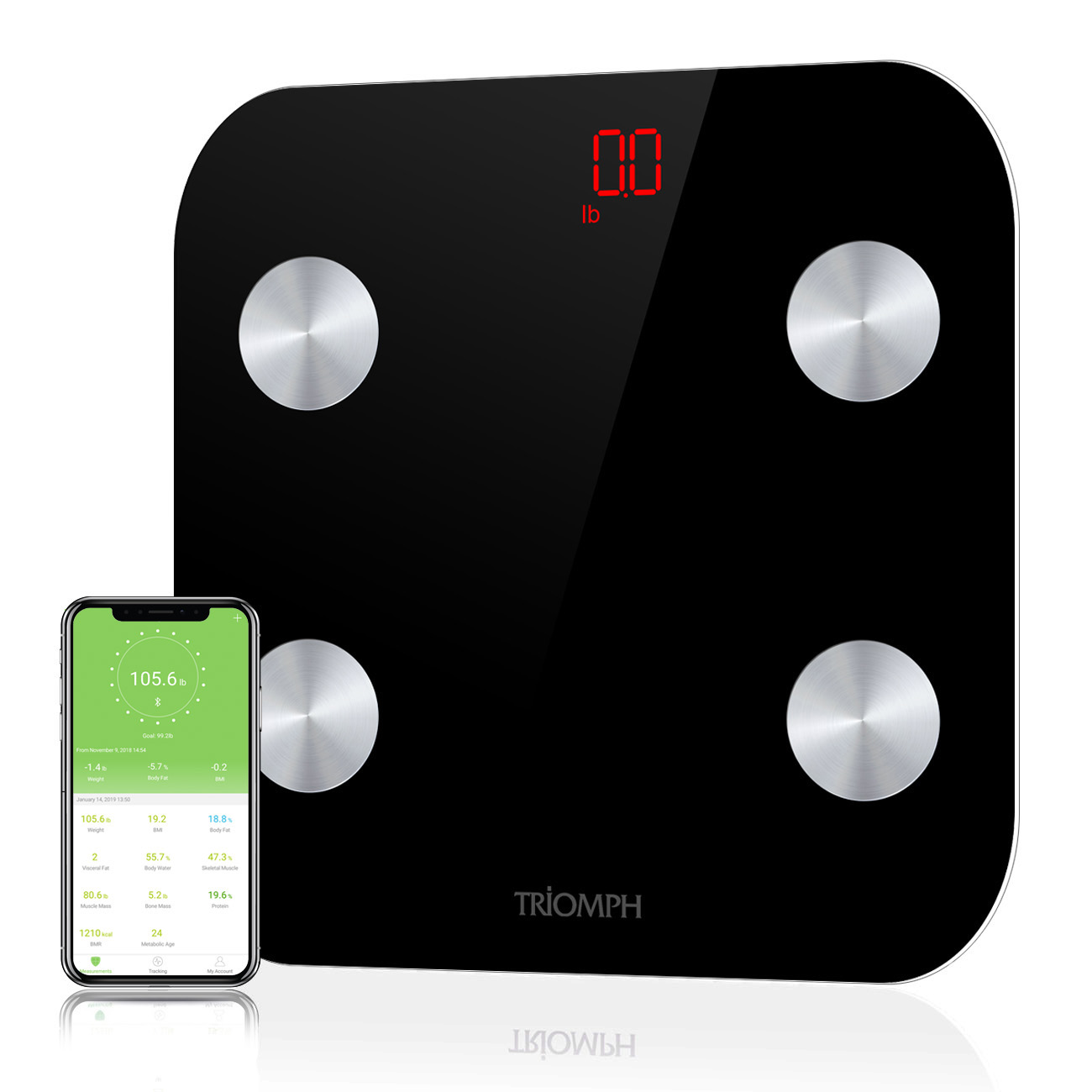 TRSC35 Triomph Bluetooth Body Fat Scale