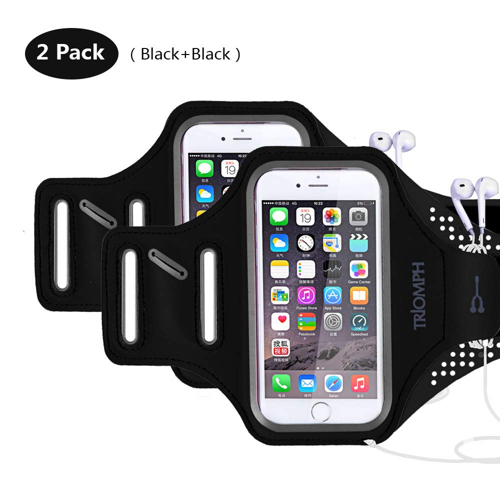 TRAB16-2Black Waterproof Phone Armband