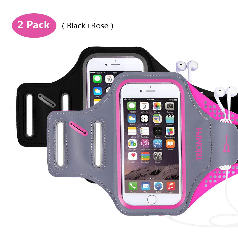 TRAB16 BlackRose Waterproof Phone Armband