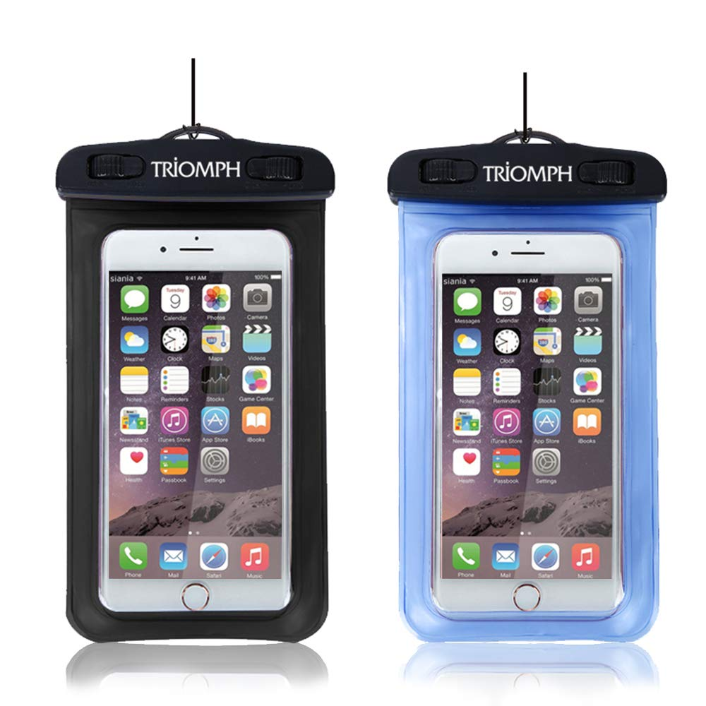 TRDB25 BlackBlue  Triomph Waterproof Phone Pouch