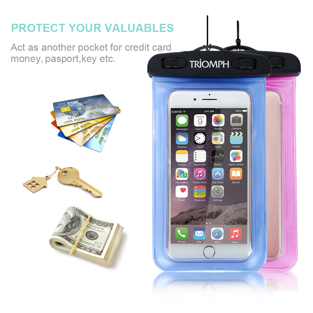 premium selection bb0d1 354c1 TRAB25 Triomph Waterproof Phone Pouch TRIOMPH