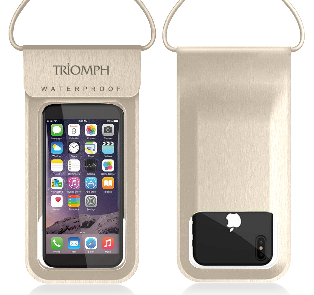 TRDB27 Gold Triomph Waterproof Phone Pouch