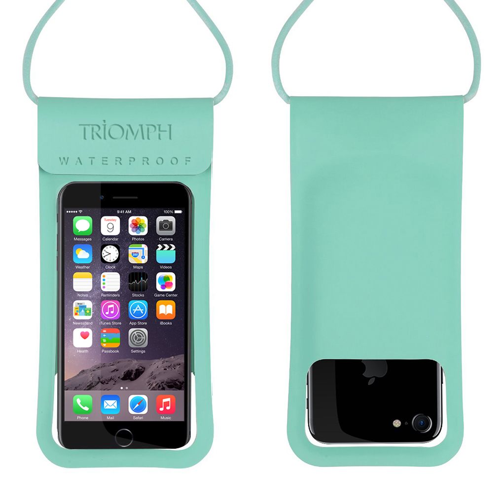 TRDB27 Green Triomph Waterproof Phone Pouch