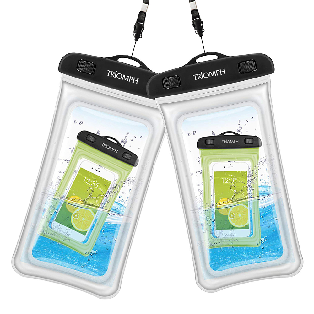 TRDB26 2White Triomph Waterproof Phone Pouch